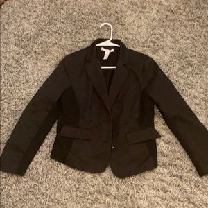 Chico's Black Patterned Blazer